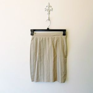 Alberta Ferretti Silk, Wool Blend Striped Skirt